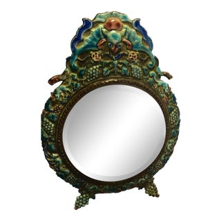 Antique Chinese Enamel Mirror