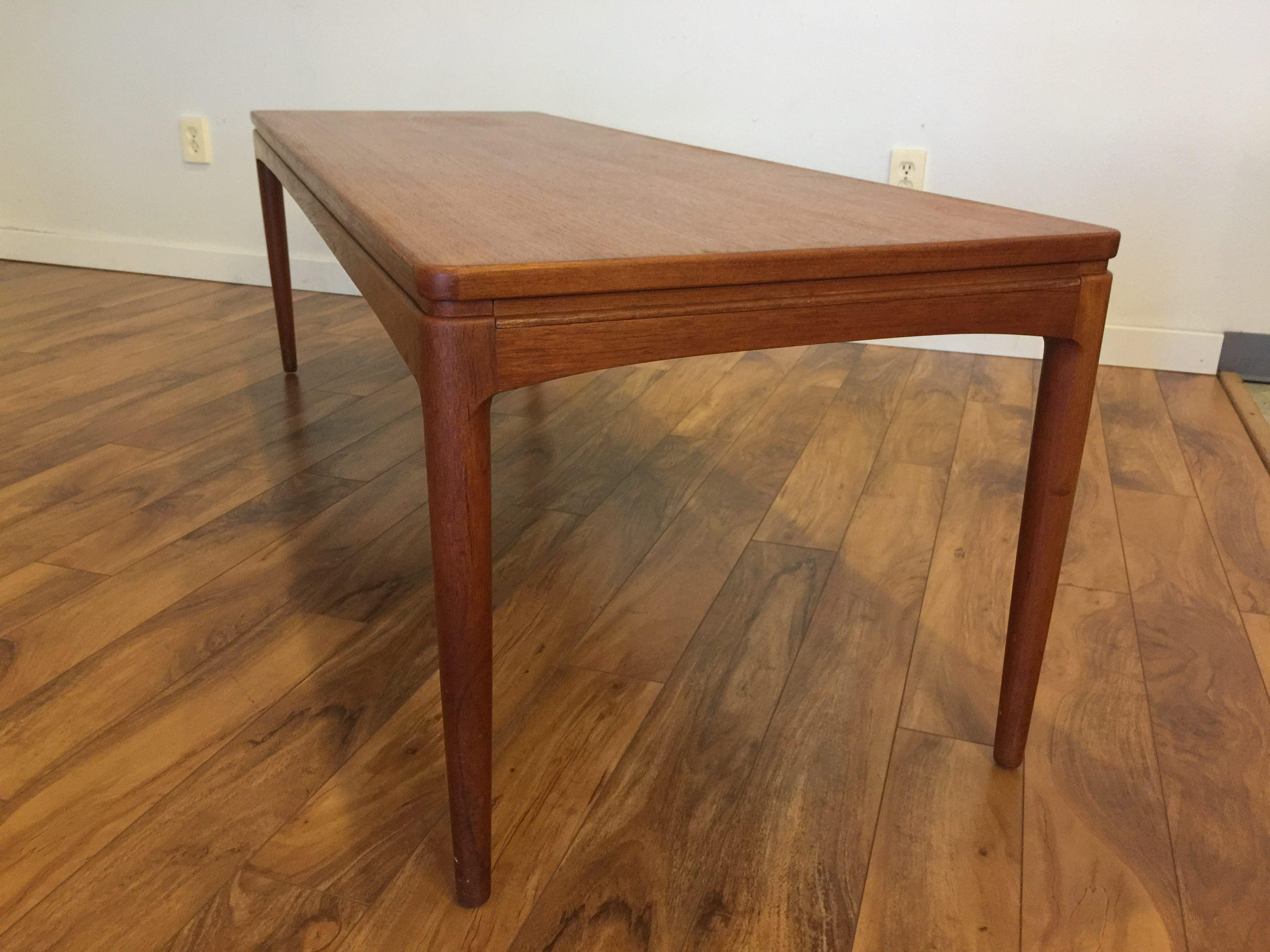 Danish Teak Coffee Table With Slide Out Shelf   Image 7 Of 11