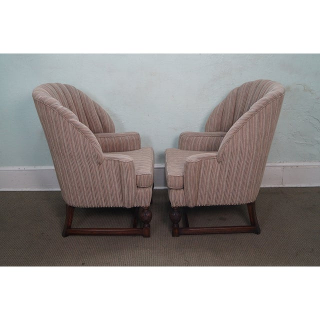 Feudal Oak Jamestown Wing Chairs - A Pair - Image 3 of 10