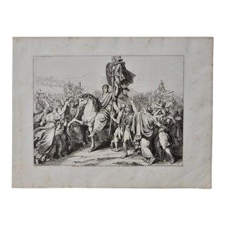 "Bartolomeo Pinelli Engraving ""Romulus Returns to Rome"" c.1817"