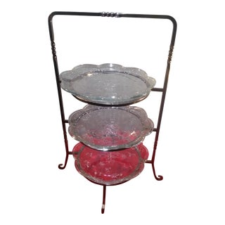 Three Tier Plate Service - 4 Piece Set