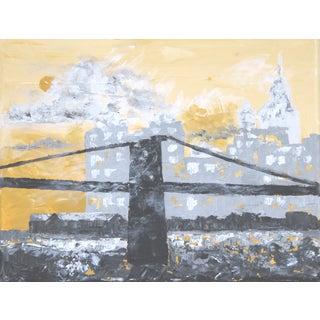 View of Brooklyn Bridge by C. Plowden