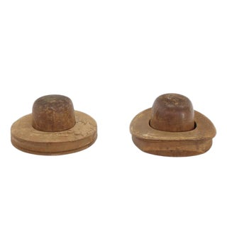 Pair of Wooden Antique Hat Forms