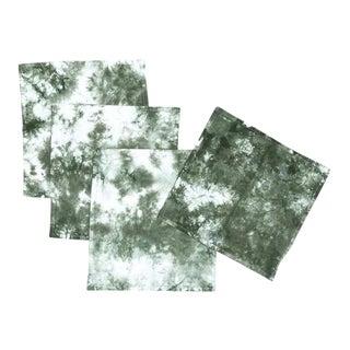 Marbled Sage Green Dinner Napkins - Set of 4