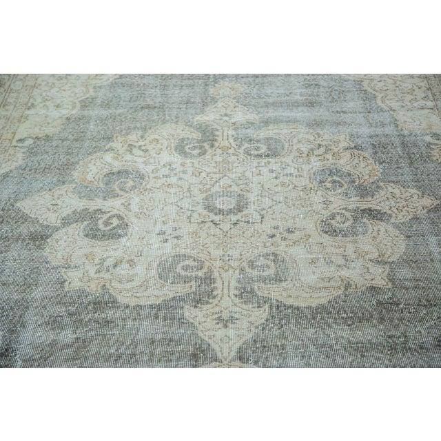 "Distressed Scalloped Oushak Carpet - 6'10"" x 10'3"" - Image 2 of 5"