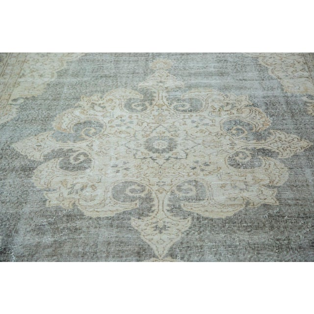 "Image of Distressed Scalloped Oushak Carpet - 6'10"" x 10'3"""
