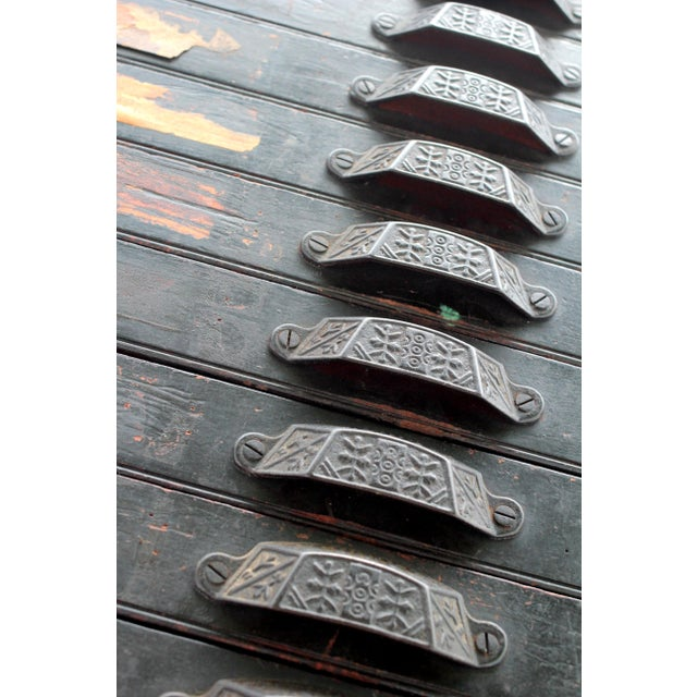 Antique 20-Drawer Letterpress Cabinet & Wood Type - Image 3 of 9