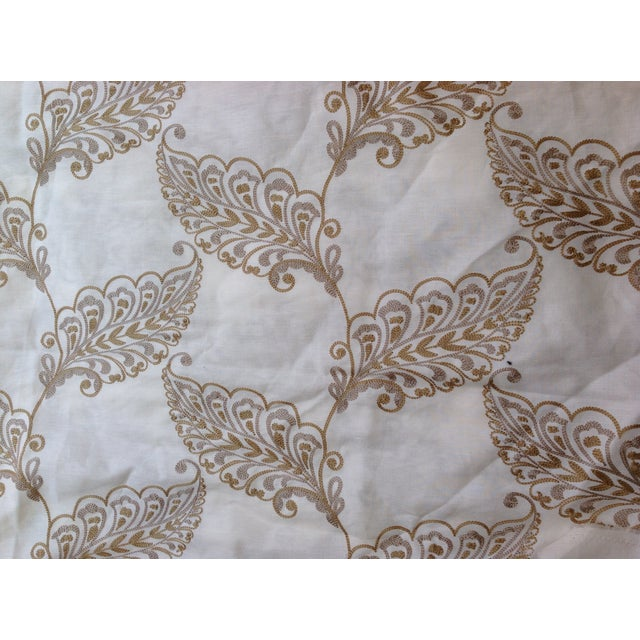 Image of Leaf Embroidery Fabric by Highland Court - 2 Yards