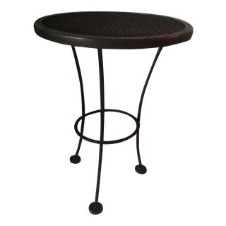Woodard Vintage Wrought Iron Mesh Table