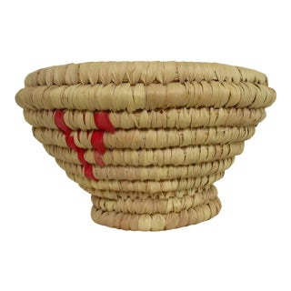 Moroccan Hand Woven Bread Basket Bowl