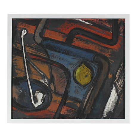 Mid Century Abstract Still Life Painting - Image 1 of 3