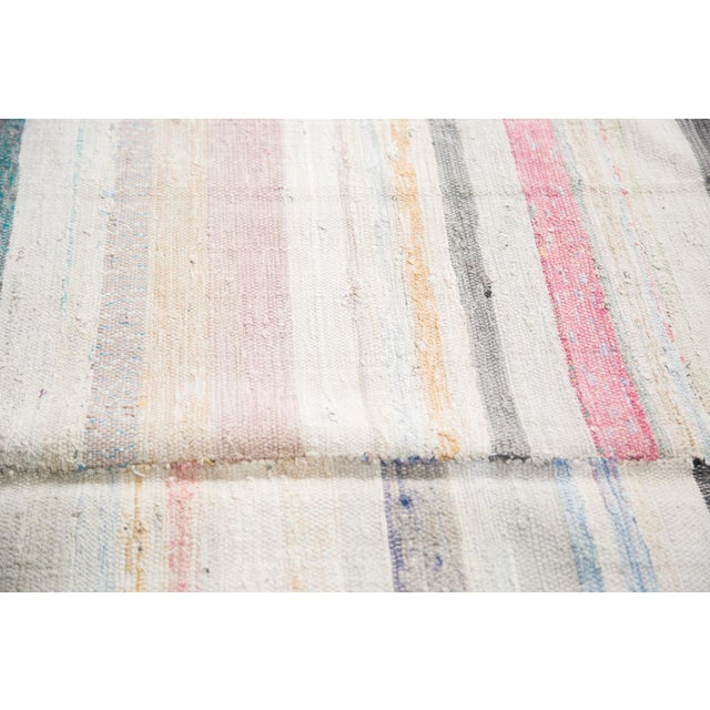 "Vintage Rag Rug Carpet - 6'6"" X 10'10"" - Image 6 of 7"