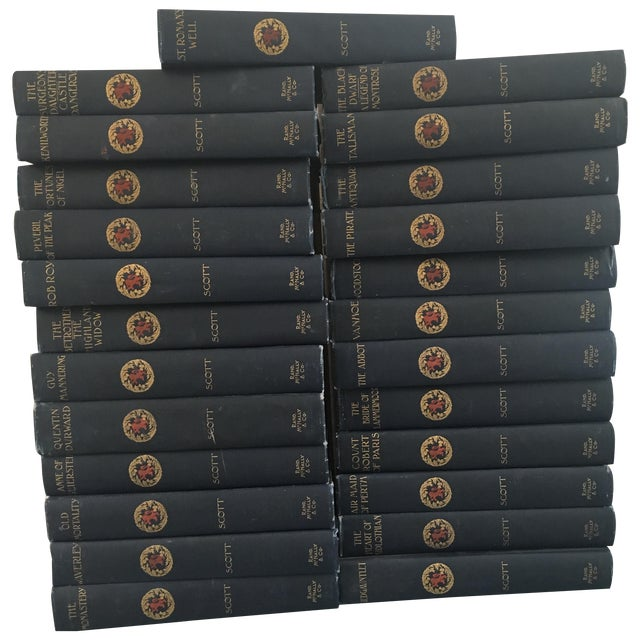 Antique Blue Instant Library Books - Set of 25 - Image 1 of 6
