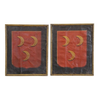 PAIR OF UNUSUAL FRENCH ANTIQUE PAINTINGS