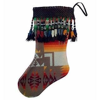 Indian Blanket Christmas Stocking