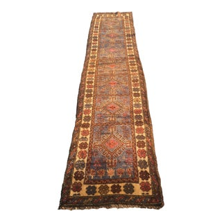 Vintage Persian Mehabad Soft Pile Runner - 2' X 9'2""