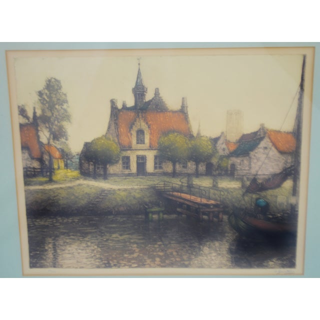 Early 20th Century European Village Scene Limited Edition ...