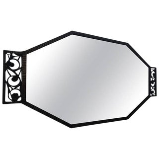 Wrought Iron French Art Deco Wall Mirror
