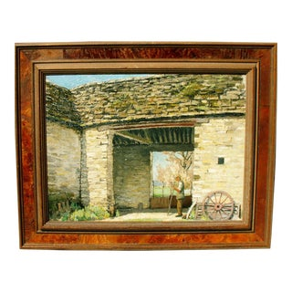 """Cotswold Barn"" Oil Painting"