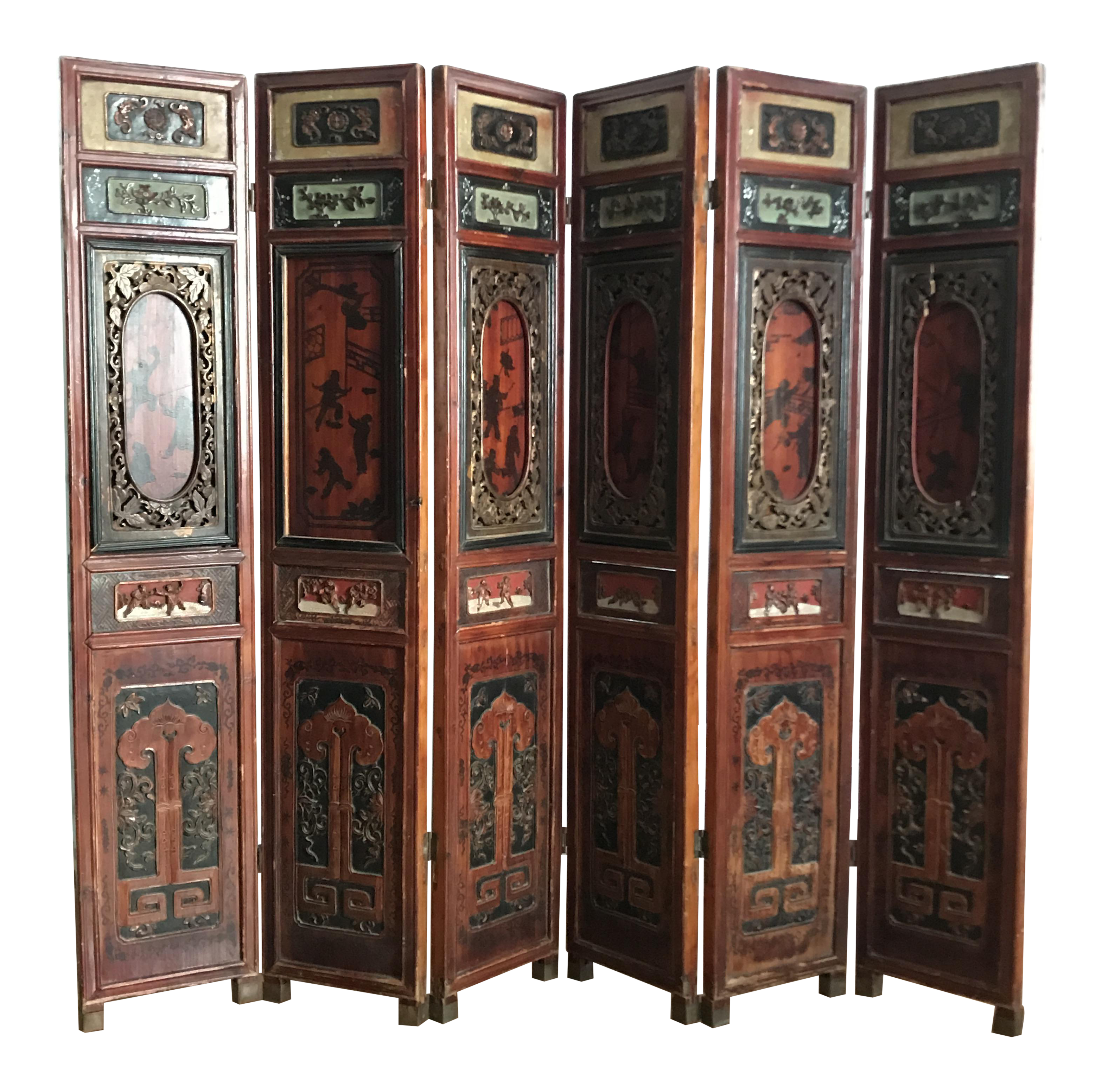 Vintage Used Asian Screens and Room Dividers Chairish