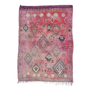 Vintage Moroccan Boujaad Rug 9'4 x 6'3