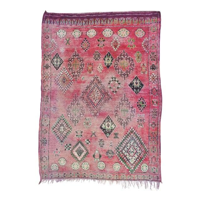 Vintage Moroccan Boujaad Rug 9'4 x 6'3 - Image 1 of 6