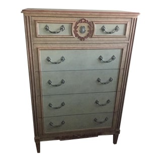 Vintage Baker Louis XVI Painted Tall Chest