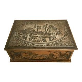 Vintage Etched Brass Box