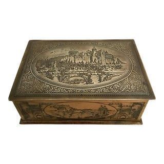 Vintage Etched Brass Box