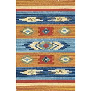 "Anatolian Hand Woven Cotton Rug - 5' 0"" X 8' 0"""