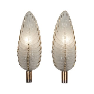 French Ezan Leaf Sconces- A Pair