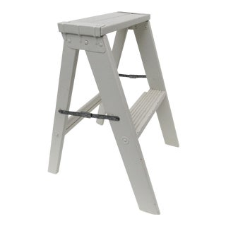 Cream Painted Folding Step Ladder