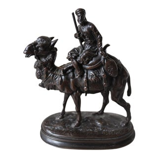 Arab Camel Rider Bronze Sculpture