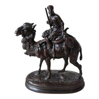 Arab Camel Rider Bronze Sculpture