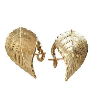 Christian Dior Leaf Earrings