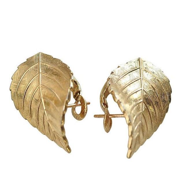 Image of Christian Dior Leaf Earrings