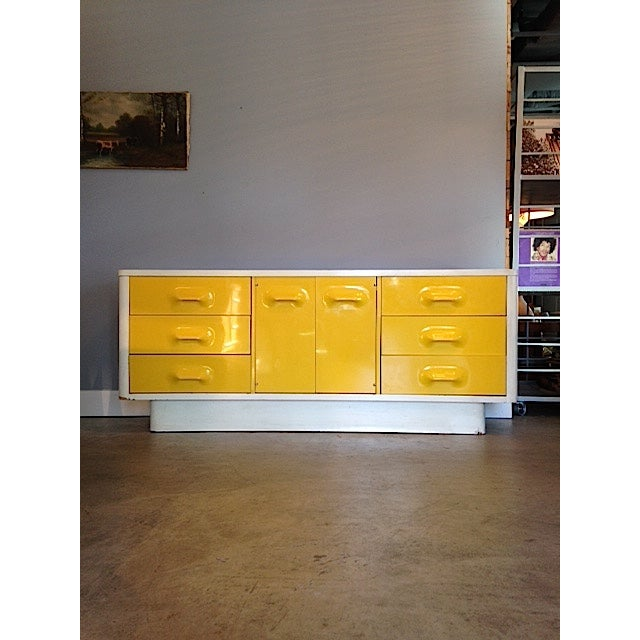 Image of Yellow Broyhill Dresser/ Credenza
