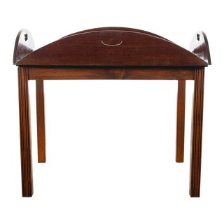 18th C. Georgian Mahogany Butler's Tray Table