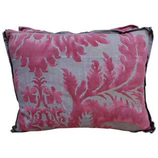 Pink & Silver/Gold Fortuny Pillow - A Pair