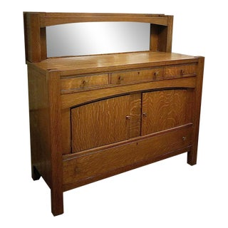 Antique Empire Tiger Oak Buffet