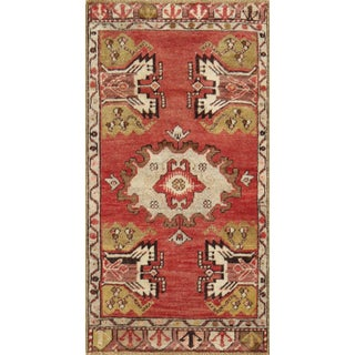 "Turkish Vintage Oushak Rug - 1'7"" X 3'2"""