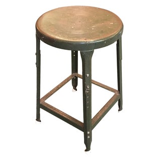 Vintage Industrial Metal Stool