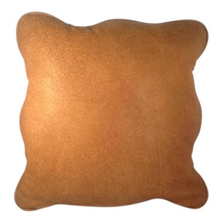 Vintage Genuine Leather Accent Pillow