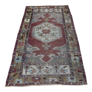 "Vintage Turkish Oushak Rug - 3'2"" X 5'8"""