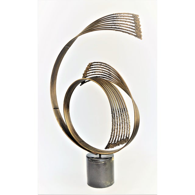 Curtis C. Jere Mid-Century Modern Vintage Brass Brutalist Kinetic Table Sculpture MCM Millennial - Image 2 of 11