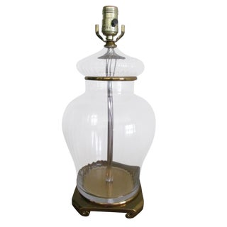 Ginger Jar Style Glass Table Lamp