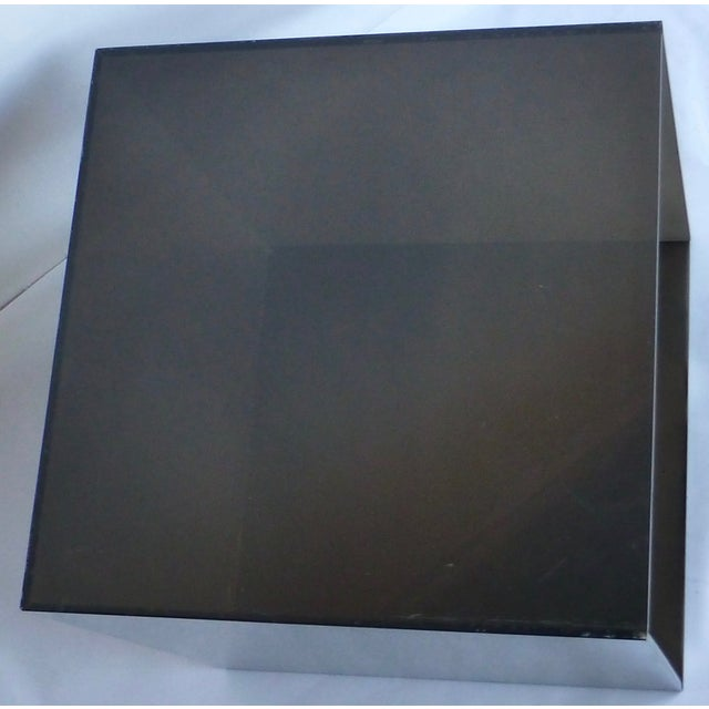 Image of Smoked Lucite Storage Cube