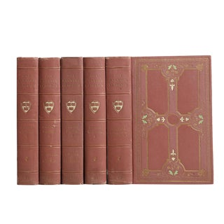 Antique Classical Writings in Dusty Rose, S/5