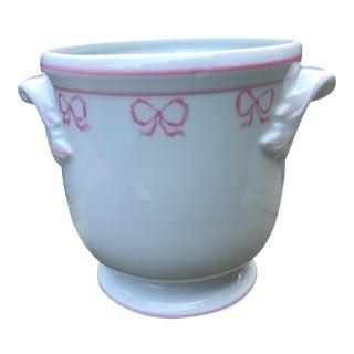 Vista Alegre Porcelain Ruban Pink Bows Cachepot