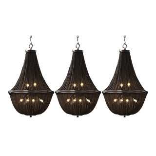 Restoration Hardware French Empire Chainmail Chandeliers - Set of 3